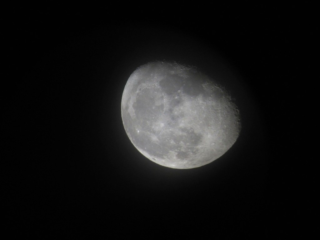 WANING GIBBOUS MOON | 3 days after full moon. A digiscoped ...