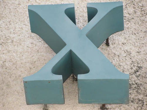 x on exit sign above garage | by stevendamron