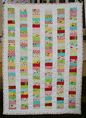 Moda Oh Cherry Oh Stacked Coin Quilt Front | by Fresh Lemons : Faith