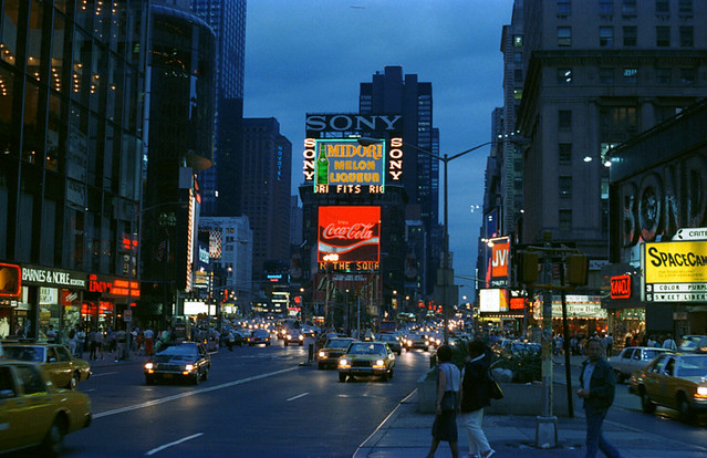 Times Square After Sun...