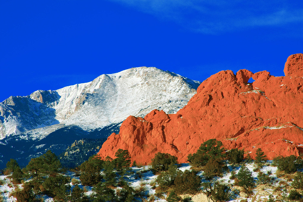 Pikes Peak Mountain Kissing Camels Red Rocks In The Foreg Flickr