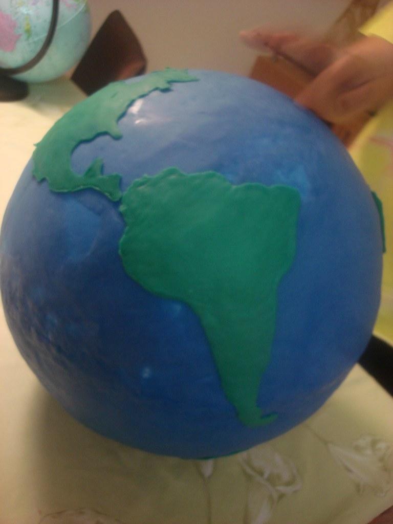 Planeta Terra | Bola de Isopor Enormeeee Coberta e ...