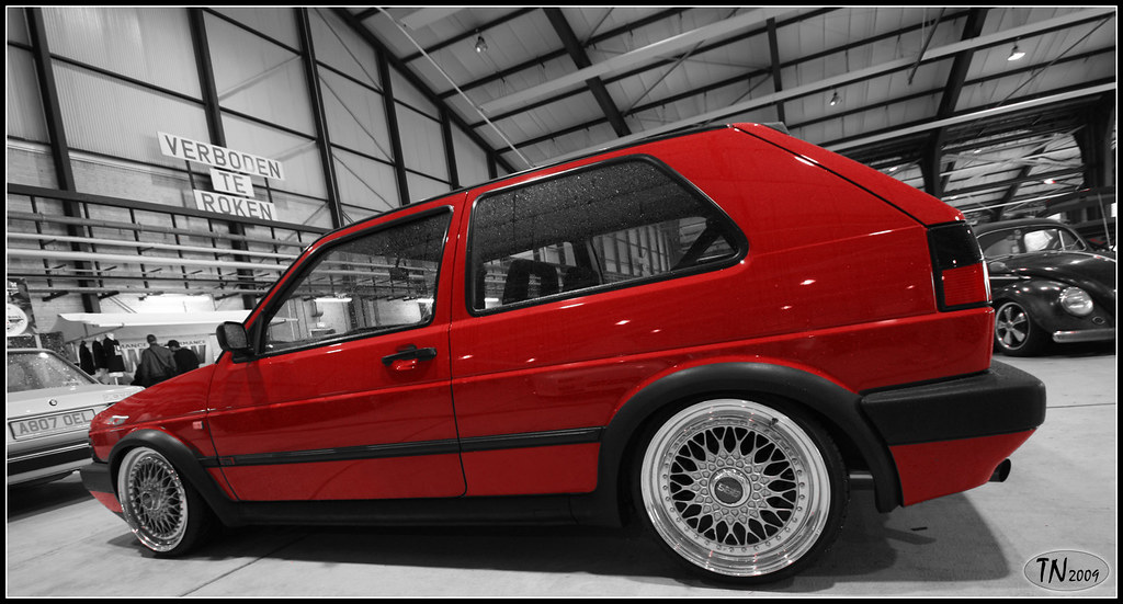 vw golf mk2 red with bbs rims nice golf mk2 with bbs rs. Black Bedroom Furniture Sets. Home Design Ideas
