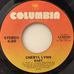 CHERYL LYNN:SHAKE IT UP TONIGHT(LABEL SIDE-B)