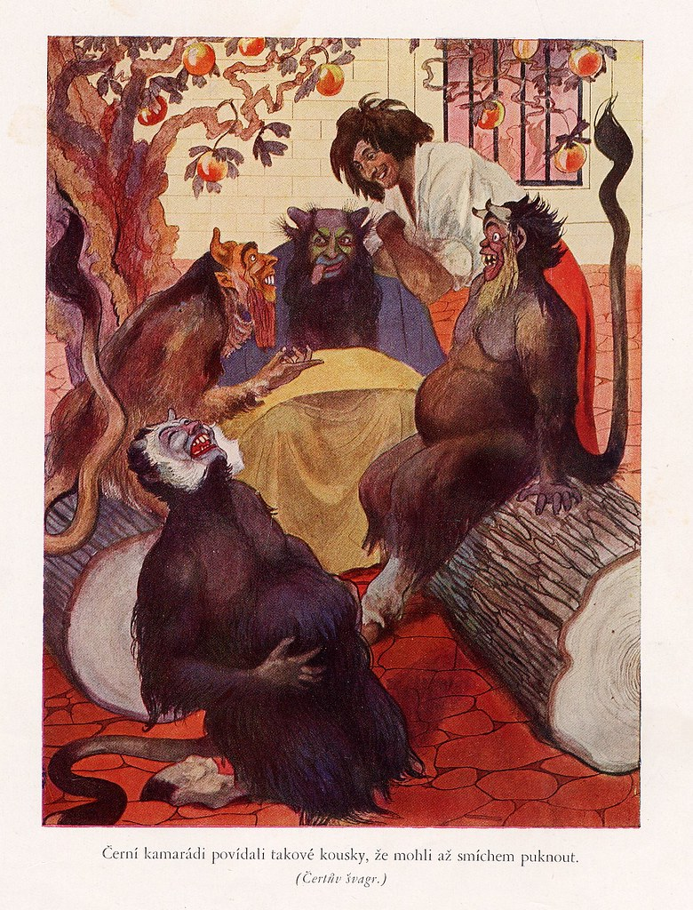 Artus Scheiner - Illustration for Czech National Fairy Tale, from collection by Bozena Nemcova, 1913