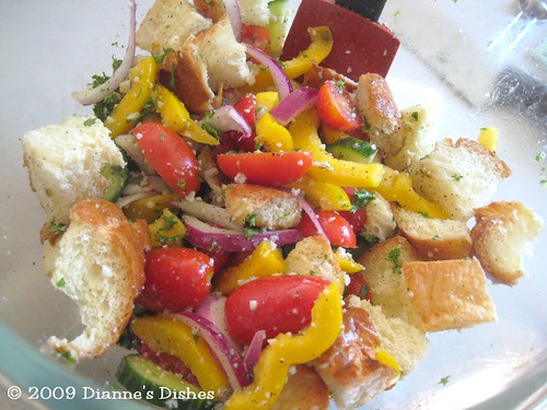 Bread Salad: Tossed | by Dianne's Dishes