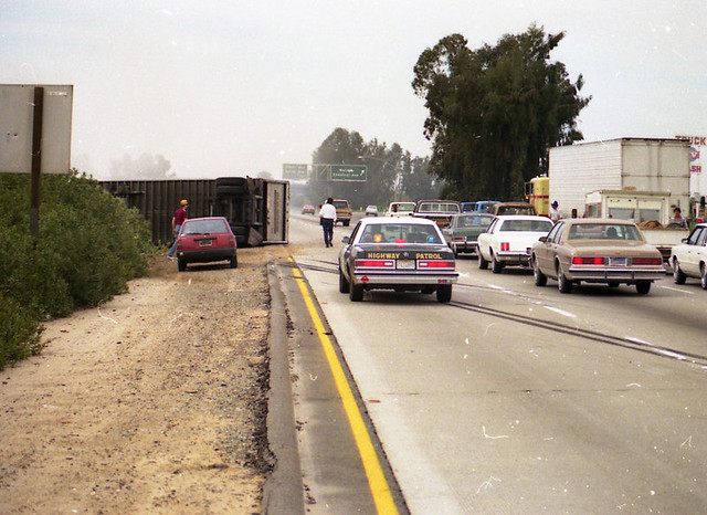 Highway 99 Big Rig Crash, Fresno   chuck bell   Flickr