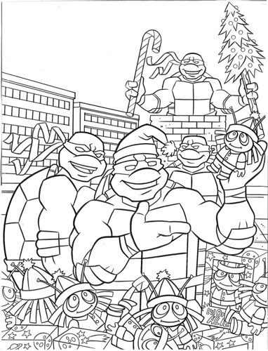 Teenage Mutant Ninja Turtles Holiday Coloring Book By Be