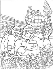 teenage mutant ninja turtles holiday coloring book by bendon publishing coloralot books