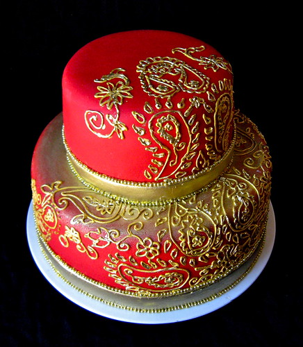 Mehndi Inspired Cake For Traditional Indian Themed Wedding