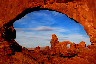 Turret Arch Through North Window at Sunrise -- Outside of Moab UT | by cassiemarie