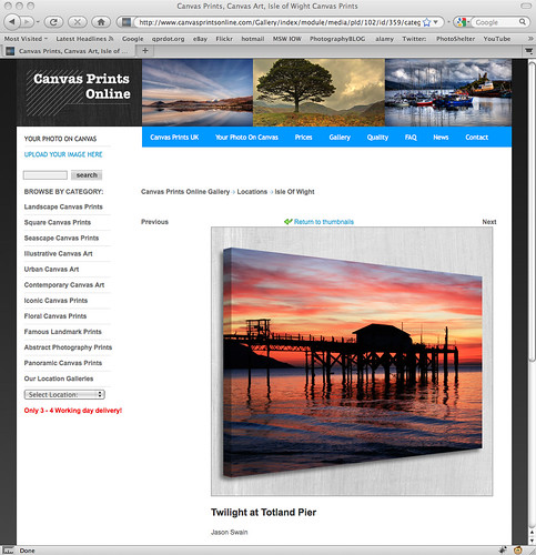 Canvas prints online - Totland Pier, Isle of Wight | by s0ulsurfing