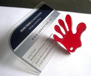 clear plastic business cards | by Pinkograf by Pinkard