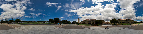 Stanford University Main Quad and Oval Park Full Panoramic | by r.AI (-)