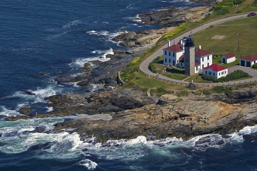Beavertail Lighthouse Aerial 2 Aerial View Of Beavertail