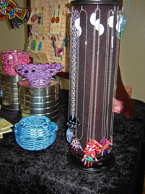 diy trunk show nov  handmade rotating necklace rack flickr