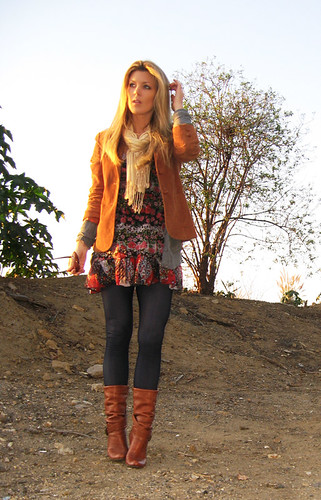 floral-dress-leggings-boots-layers-6 | by ...love Maegan
