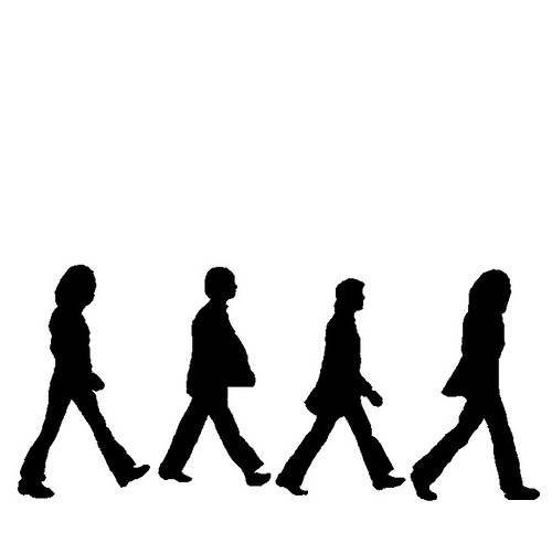 Beatles Silhouettes Jgame Boy Flickr
