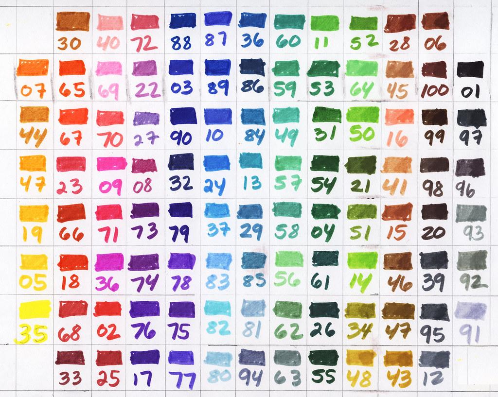 2009 12 26 marker color chart