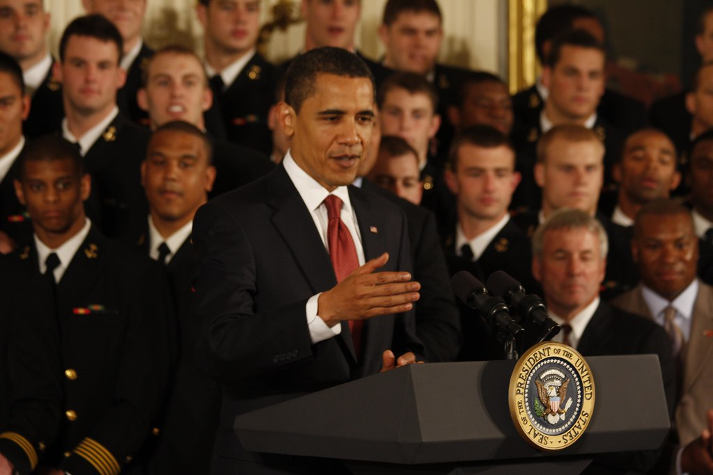 President Obama Present Commander-in-Chief trophy to US Navy Academy Midshipmen