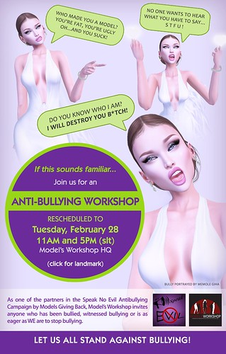 Anti-bullying Workshop RESCHEDULED to Feb 28 | by Model's Workshop Photos