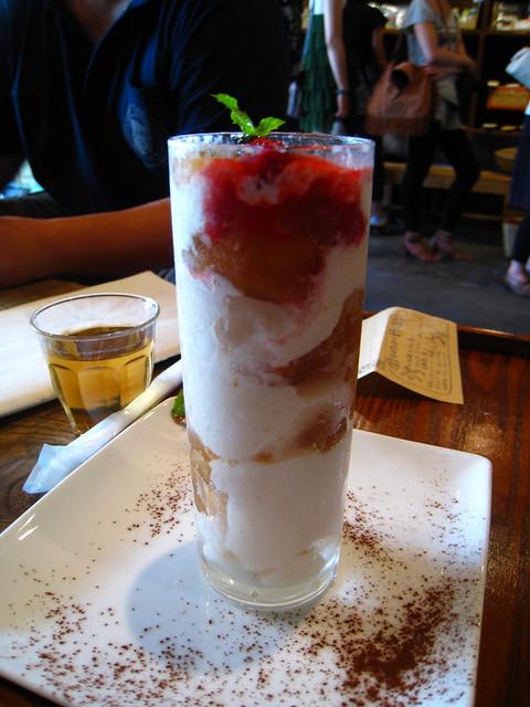 桃と紅茶のブラマンジェ
