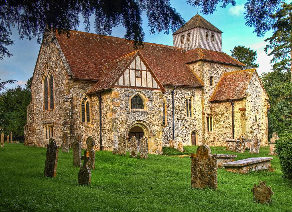 The 10th Century Saxon Church At Breamore In Hampshire