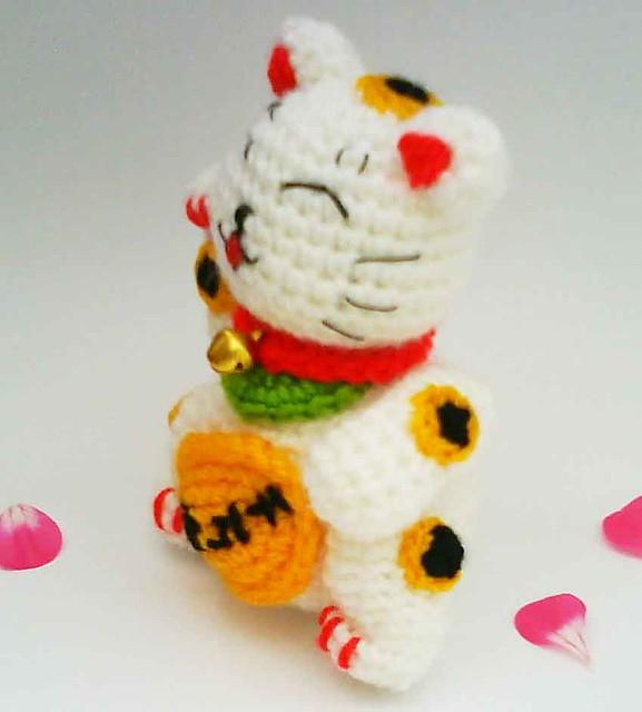 Maneki Neko Amigurumi Patron : Maneki Neko Lucky Cat Amigurumi Crochet Pattern Good ...