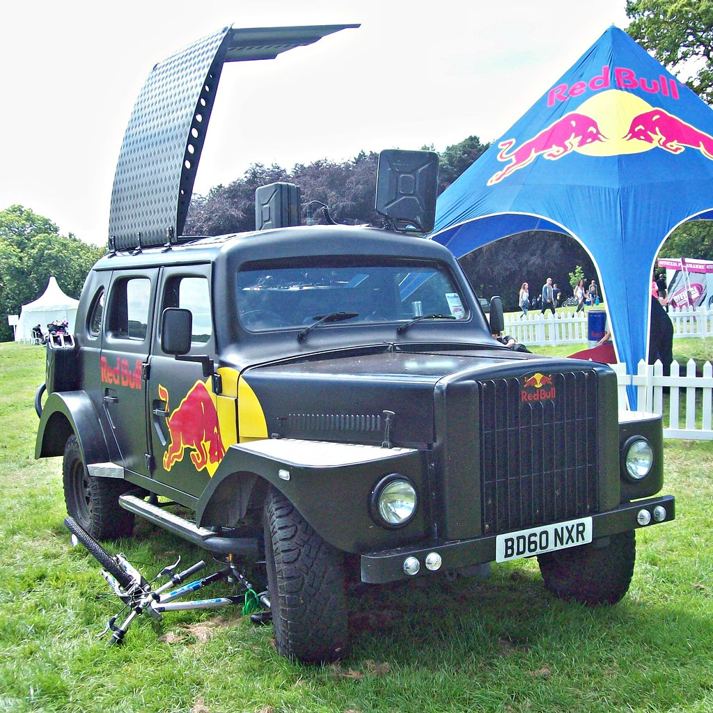 ... 889 Land Rover Defender (Very Modified) (2010) - Red Bull | by