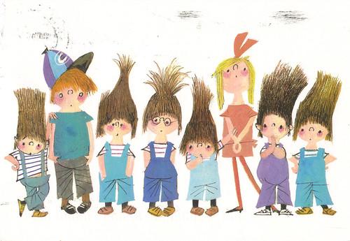 Character Design For Children S Books : Pluk van de petteflet children s book characters postcard