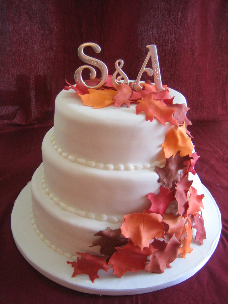 fall leaf wedding cake topper fall leaves wedding cake fall leaves wedding cake 14147