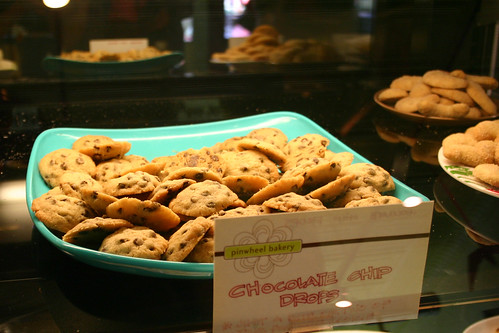 alice in wonderland sized chocolate chip cookies ...