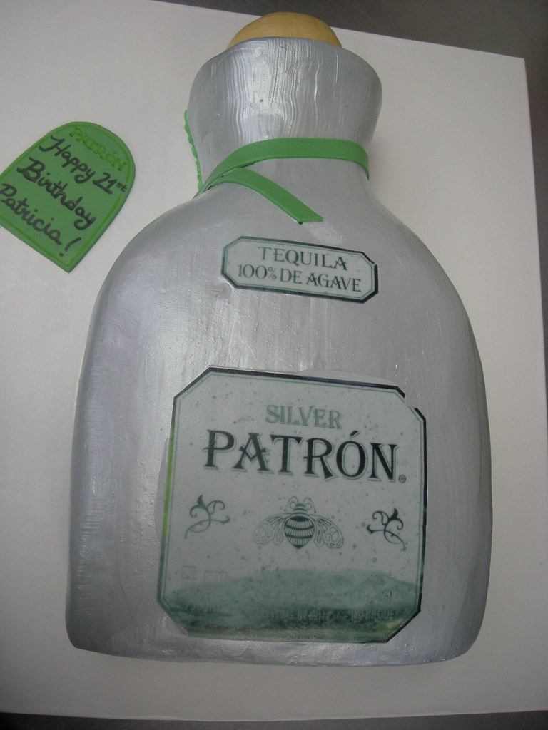 Patron Birthday Cake 81 Silver Patron Bottle Asweetd Flickr