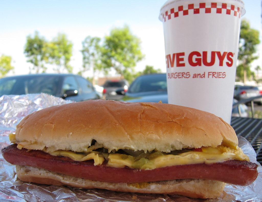 Five Guys Burgers And Fries Hot Dogs Five Guys Hot Dog | by