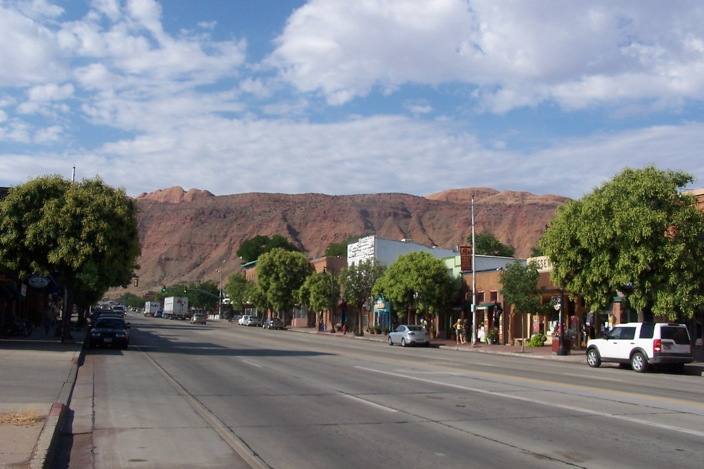 beautiful downtown moab utah moab is the county seat of