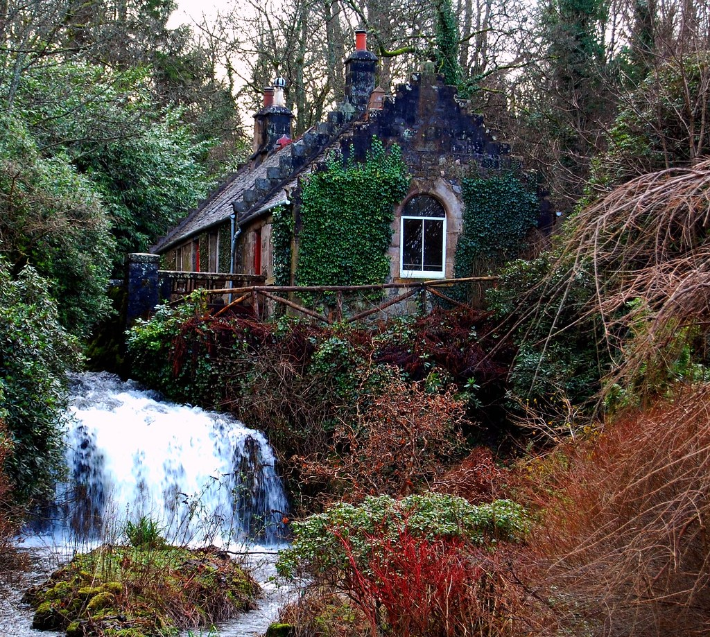 Hidden Scottish Woodland Cottage And Waterfall