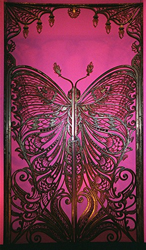 Art Nouveau Butterfly Door | by Maureclaire