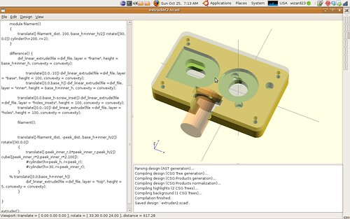 New RepRap Extruder Design | by wizard23