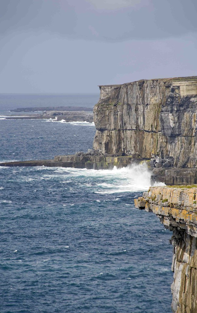 A cliff 250 meters high Atlantic ocean level.   Ireland ...
