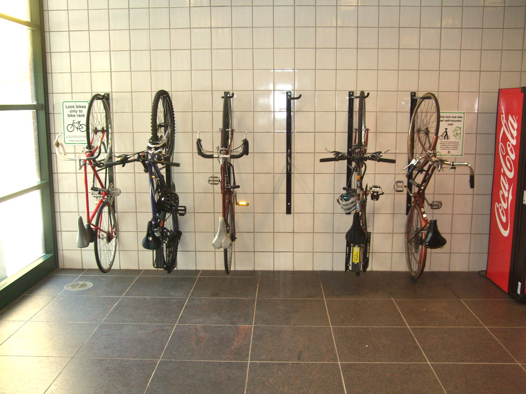 Chart Holder Wall Mount: Wall mounted bike racks at Damen Brown Line | Someone who bou2026 | Flickr,Chart
