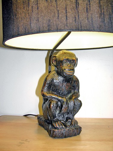Vintage Wood Monkey Table Lamps | This is two very unique ...