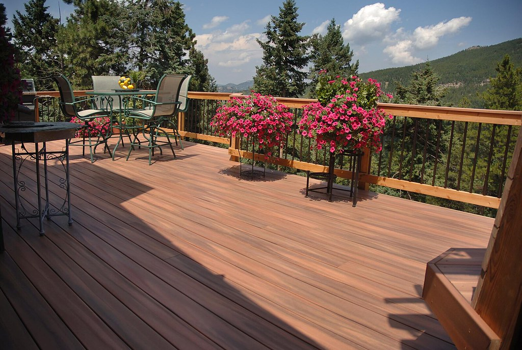 Fiberon tropics composite decking look at the view from for Who makes tropics decking