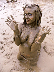 Think, that glastonbury mud girl think