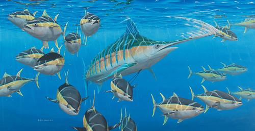 Blue Marlin Paintings Blue Marlin And Yellowfin Tuna