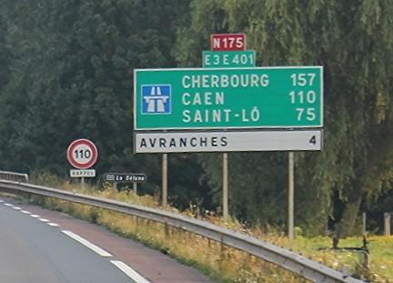 ヨーロッパの高速道路のサイン