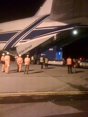 Loading cargo into the plane | by NNSANews