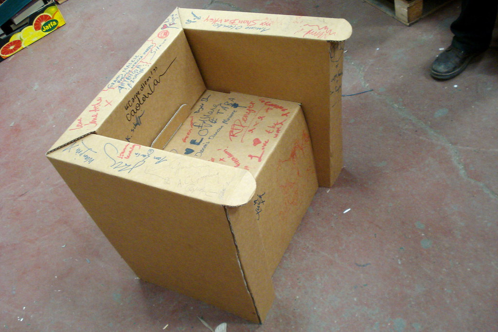 Cardboard Chair Cardboard Chair With Signature By Famous