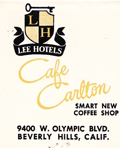 Cafe Carlton Beverly Hills CA