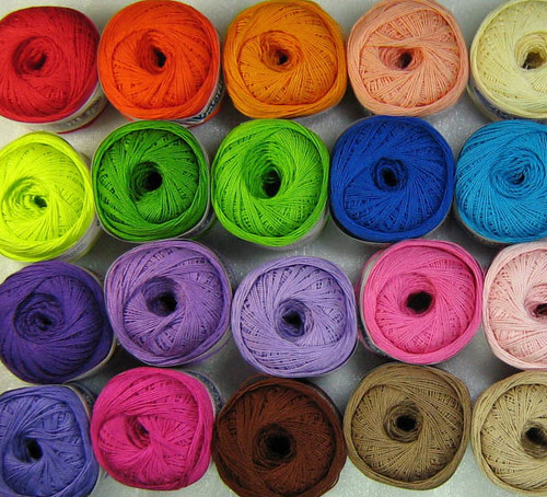 Crochet Thread Sizes : Crochet Cotton Thread Size 8 stripeyblue Flickr