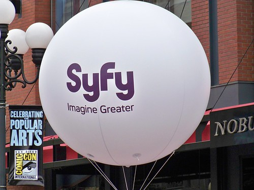 Syfy Channel balloon in the Gaslamp District during San Diego Comic-Con International | by Castles, Capes & Clones